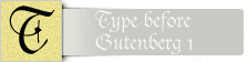 Your preview of Type before Gutenberg 1 Value Pack font