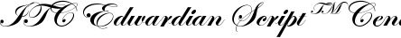 Font ITC Edwardian Script™ Central European Bold Alternate