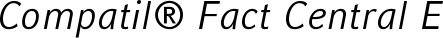 Font Compatil� Fact Central European Italic