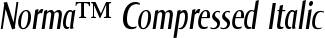 Font Norma™ Compressed Italic