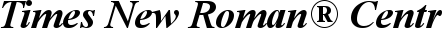 Font Times New Roman� Central European Bold Italic