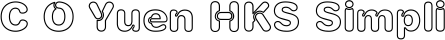 Font C O Yuen HKS Simplified Chinese Std XboldOutline