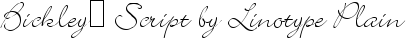 Buy font Bickley™ Script by Linotype Plain