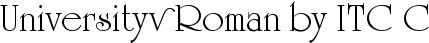 Font University™ Roman by ITC Com Regular