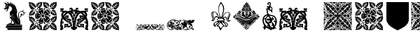 Your preview of Medieval Dingbats font