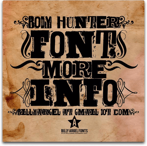 Body Hunter - Font Illustration