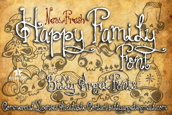 Happy Family - Font Illustration