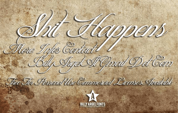 Shit Happens - Font Illustration