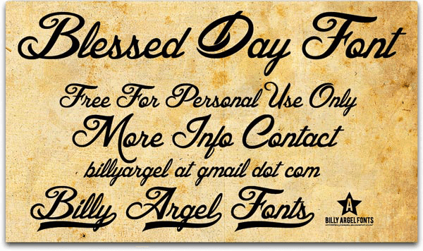 Blessed Day - Font Illustration