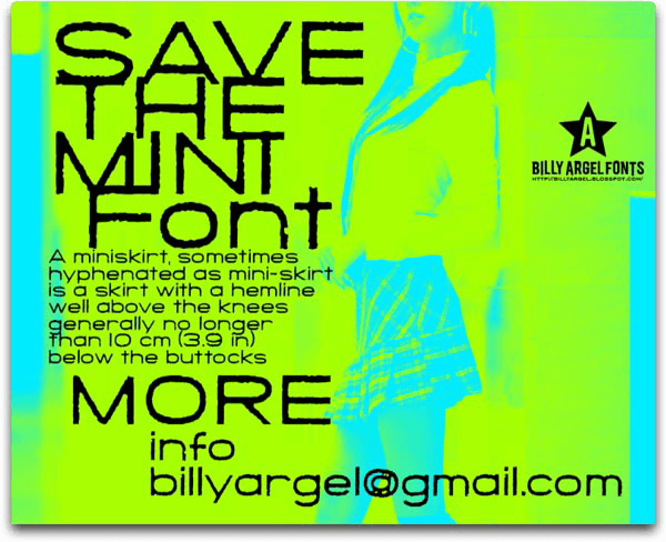 Save The Mini - Font Illustration