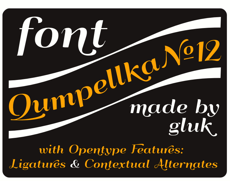 Qumpellka No12 - Font Illustration