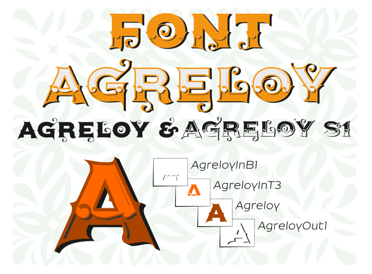 AgreloyOut1 - Font Illustration