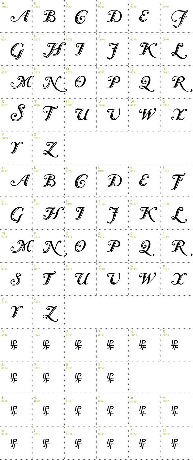 Caslon initials calligraphic font info details inclusive preview