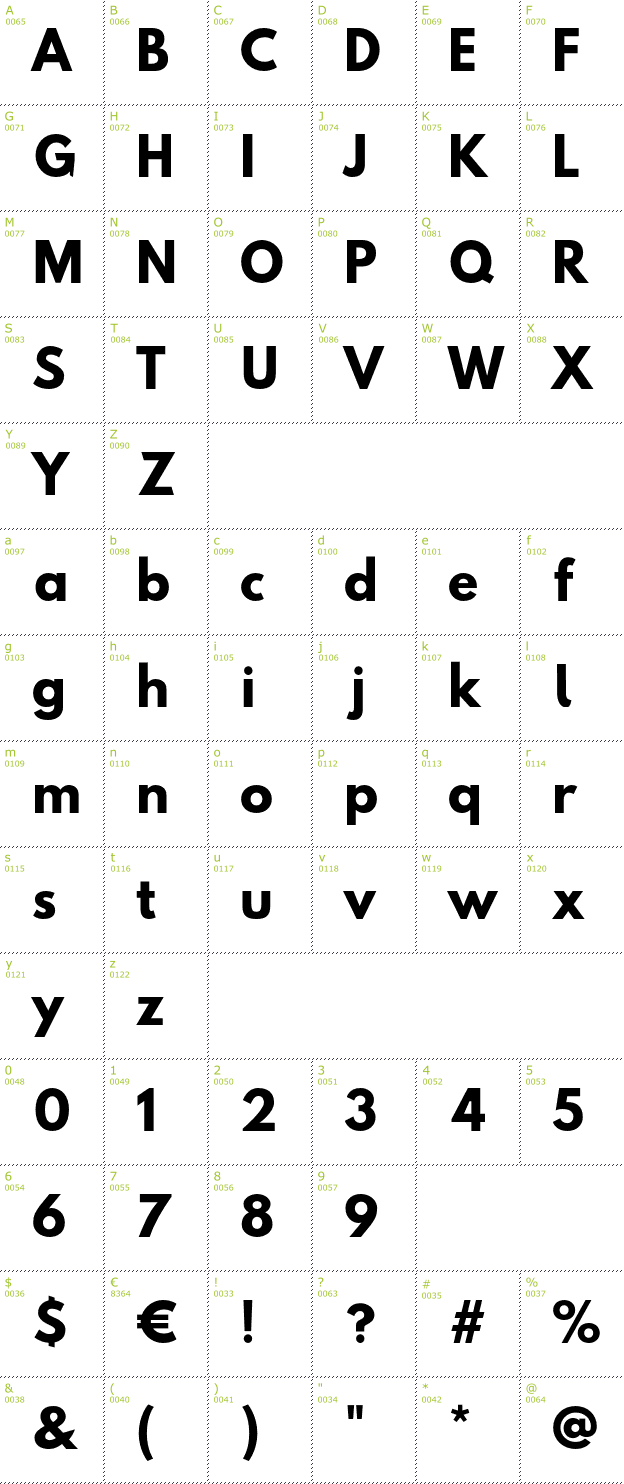 Character Mini-Map: Hussar font