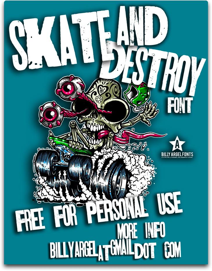 Free Skt and Destroy Font Download - Infos, TTF Preview ...